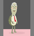 senator mitch mcconnell as a turtle in a red tie vector image vector image