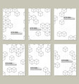 set abstract background vector image vector image