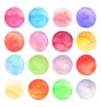 set drawn watercolor Round shapes vector image vector image