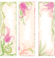 set floral backgrounds with tulips vector image vector image