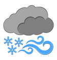 snow with wind icon weather label for web on vector image vector image
