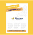sparrow title page design for company profile vector image