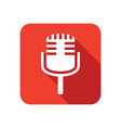 stylish microphone icon vector image vector image