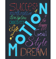 Success lifestyle lettering vector image vector image