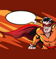 super hero with empty speech bubble vector image vector image