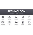 technology simple concept icons set contains such vector image vector image