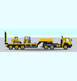 truck carrying trailer construction vector image vector image