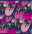 tulips multicolor seamless pattern vector image vector image