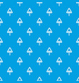 uneven triangular road sign pattern seamless blue vector image vector image