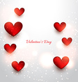 valentine red hearts in attractive background vector image vector image