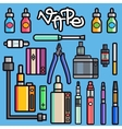 Vaping set vector image