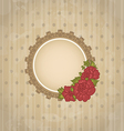 Vintage background with floral medallion and vector image vector image