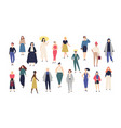 women s world crowd of girls dressed in trendy vector image vector image