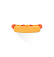 color fast food hot dog icon vector image
