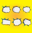 set of blank speech bubble pop art comic book vector image