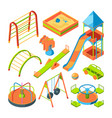 kids playground isometric pictures set vector image