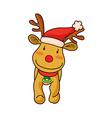 A reindeer is standing vector image