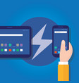 accelerated mobile pages fast in smart phone vector image