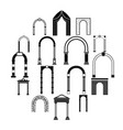 arch set icons simple style vector image vector image