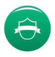 badge modern icon green vector image vector image