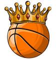 basketball king crown sport winner icon emoji vector image vector image