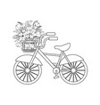 bicycle with spring flowers vector image