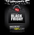 black friday sale flyer template dark background vector image