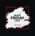 black friday sale layout discount banner vector image vector image