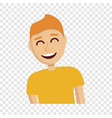 boy laugh icon cartoon style vector image