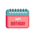 Calendar happy birthday icon flat style vector image vector image