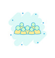 cartoon group of people icon in comic style vector image vector image