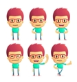 casual man in various poses vector image vector image