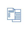 check sheets line icon concept check sheets flat vector image vector image