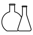 chemicals reaction outline icon element of vector image vector image
