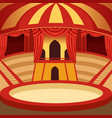 circus arena cartoon design classic stage with vector image vector image