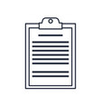 clipboard board document office list business vector image