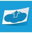 Cloud upload sticker vector image vector image