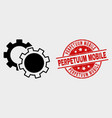 cogs icon and scratched perpetuum mobile vector image vector image