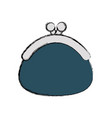 colored coin purse vector image