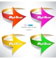 Colorful arrows on white background