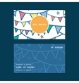 colorful doodle bunting flags vertical round frame vector image