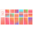 colorful vibrant gradients set collection vector image
