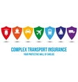 Complex transport insurance design concept vector image vector image