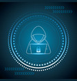 cyber security digital vector image vector image