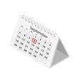 desktop business calendar september icon vector image
