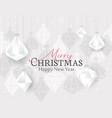 diamond christmas balls vector image vector image