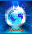 digital global world vector image vector image