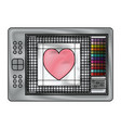 digitizer tablet with colours palette and heart vector image vector image