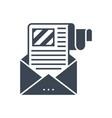 e-mail marketing glyph icon vector image