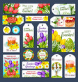 easter holiday cartoon tag and label set design vector image vector image